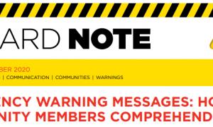 Mensajes de alerta ante emergencias: ¿cómo son comprendidos por la comunidad?